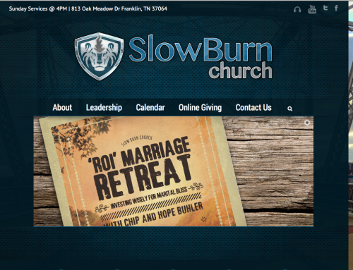 SlowBurn Church – Website re-design