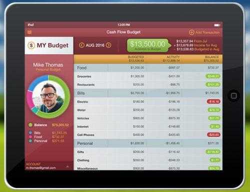 Cash Flow Budget App Idea