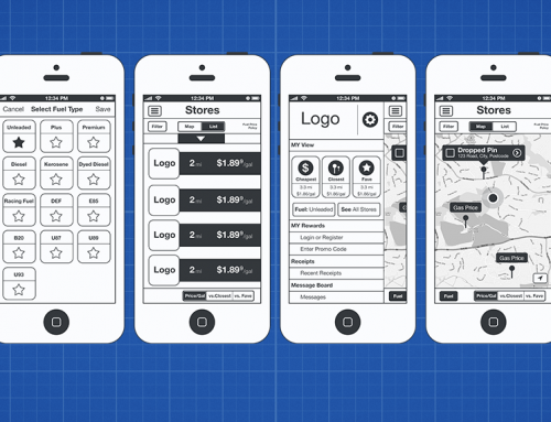 Mapco App Wireframes